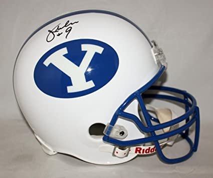 dce66ff34 Signed Jim McMahon Helmet - BYU Cougars F S Witnessed Auth - JSA Certified  - Autographed College