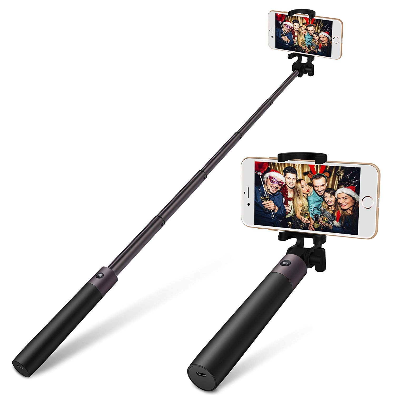 Yarrashop Wire Control Selfie Stick para teléfonos Inteligentes iOS y Android, p. Ej. iPhone 8/8plus /iPhone x, Samsung S6/S6 Edge,S7/S7 Edge/S8/S8 Plus y ...