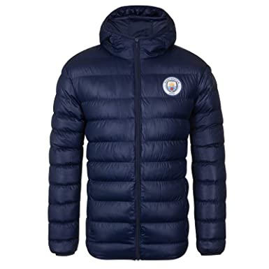 Manchester City FC - Plumífero acolchado oficial con capucha ...