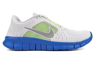 super popular 691cd 3e69b Nike Free Run 3 Big Kids GS Running Platinum Soar Volt Silver (GS)