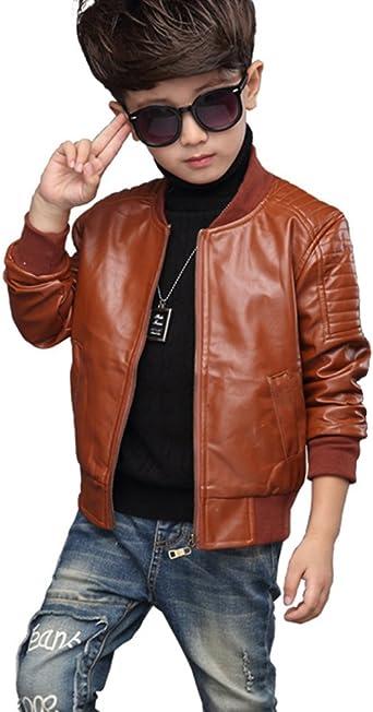 Youngsoul Manteau Manches Longues Pour Enfant Garçon Chaud Automne Hiver Veste En Simili Cuir Ado Blouson Motard Faux Cuir Amazon Fr Vêtements Et Accessoires