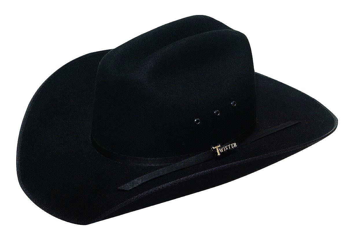 Amazon.com  M   F Western Boys  Twister Felt Cowboy Hat Black Medium  Shoes d3621d9f56a