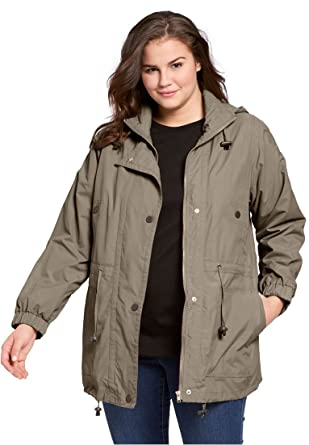 Woman Within Women's Plus Size Jacket, Anorak In Weather-Resistant ...