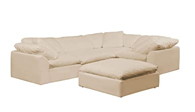 Amazon.com: Sunset Trading Cloud Puff Sectional Sofa with ...