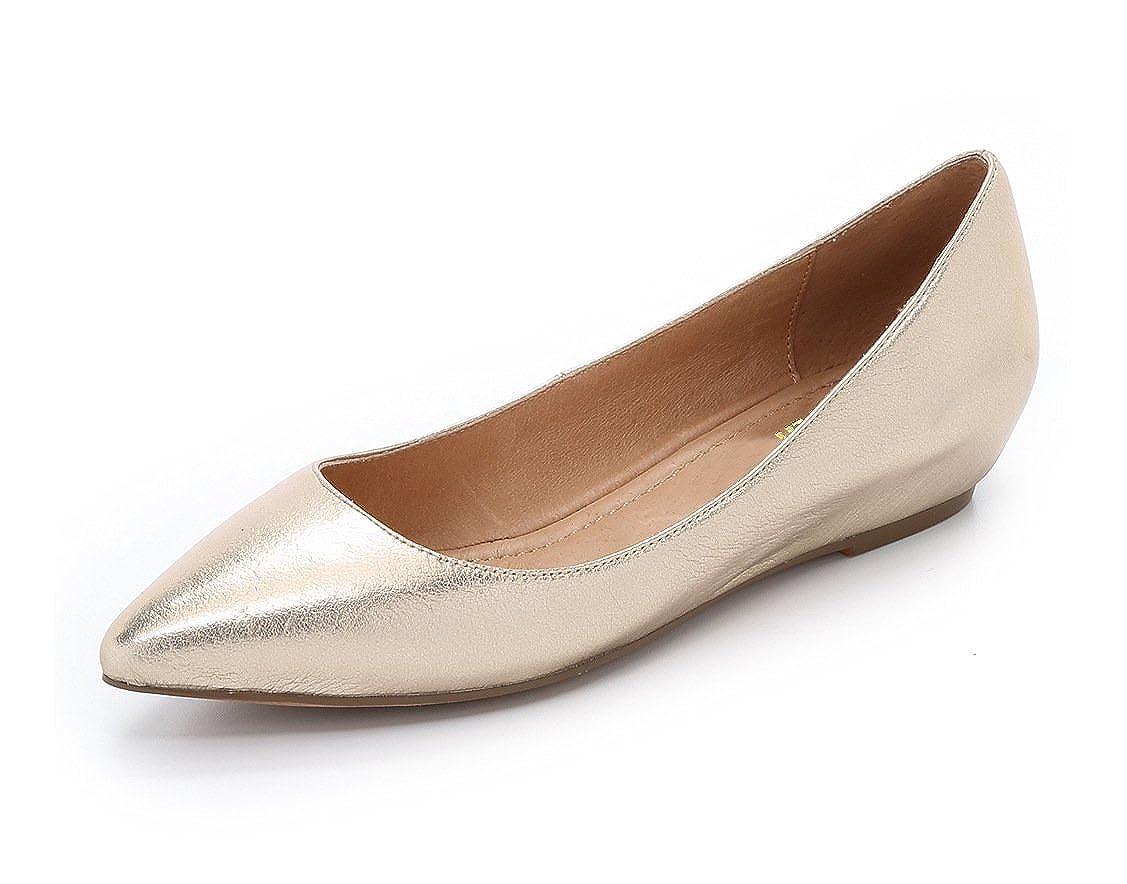 DYF DYF DYF Frauen Nackt Schuhe Farbe Größe Scharfe Flache Unterseite Flach Mund Gold 37 50397e