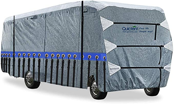 Quictent Upgraded Class A RV Cover, Extra-Thick 5-ply Camper Cover