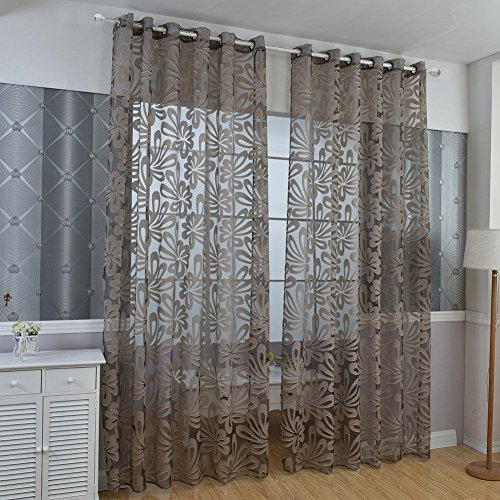 Norbi Modern Voile Tulle Room Window Curtain Sheer Panel Drapes