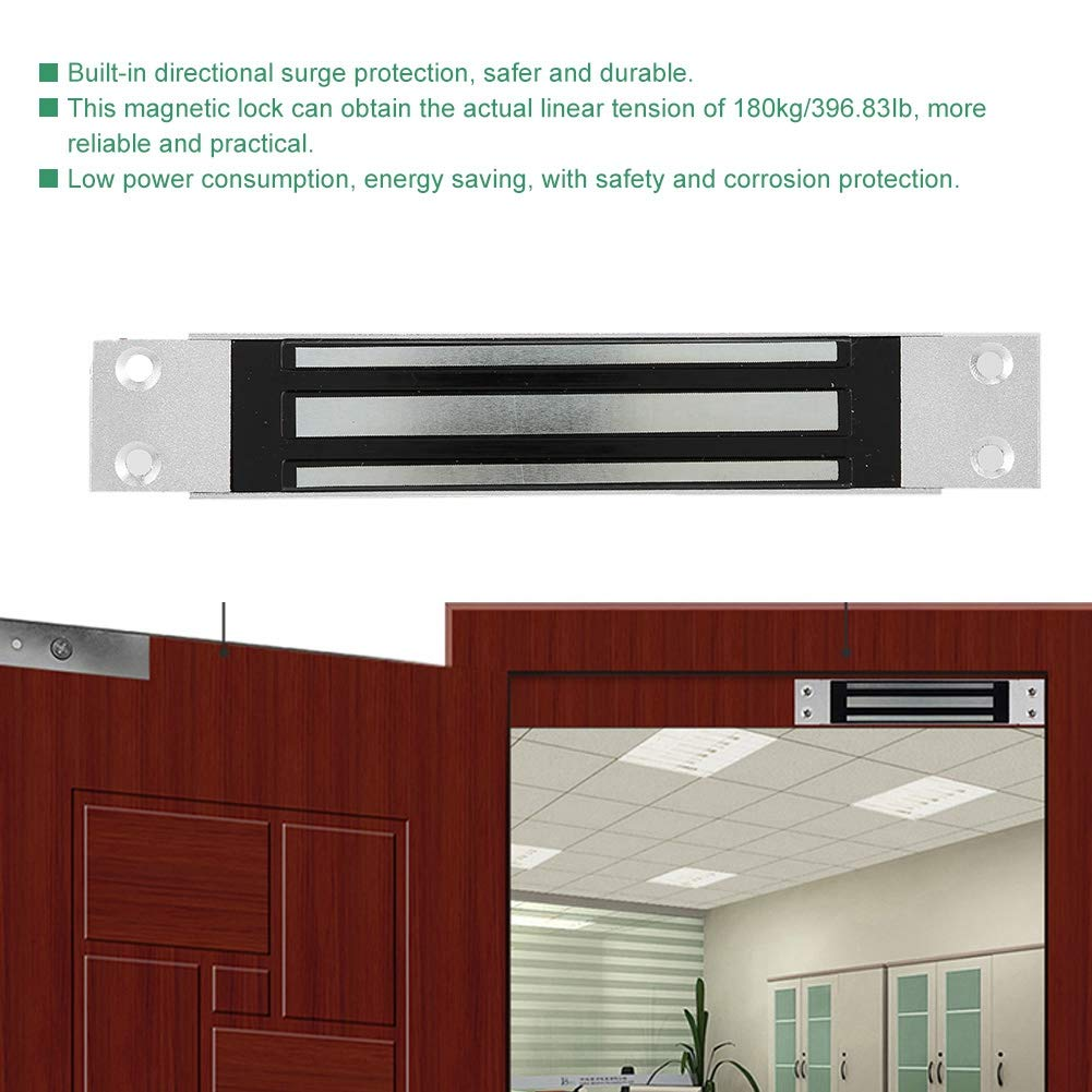 DC12V 396.8Ib Cabinet Drawer Conceal Installation Concealable Mount Electric Magnetic Door Lock for Access Control System Electromagnetic Lock