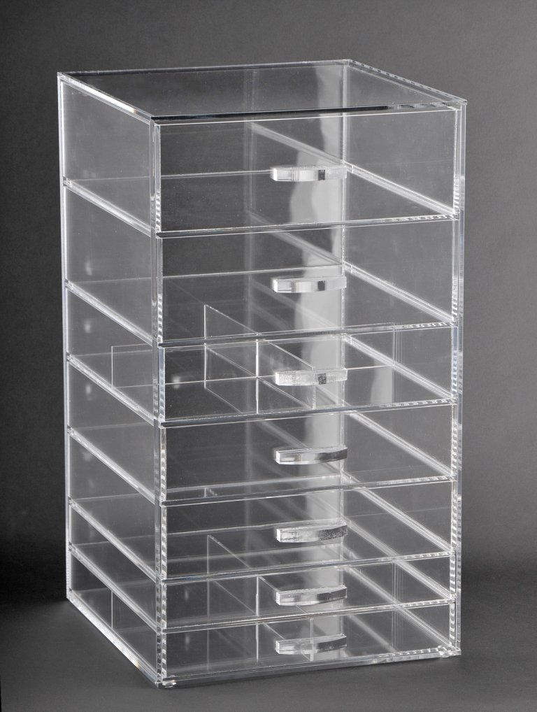 ACRYLIC COSMETIC CUBE ORGANIZER MAKEUP CASE 7-DRAWER (A7)