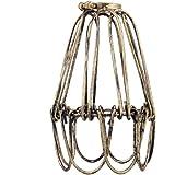 Abat-jour Vintage Rétro Suspendu Cage en Fer pour Lampe Suspension E27 - Laiton Antique