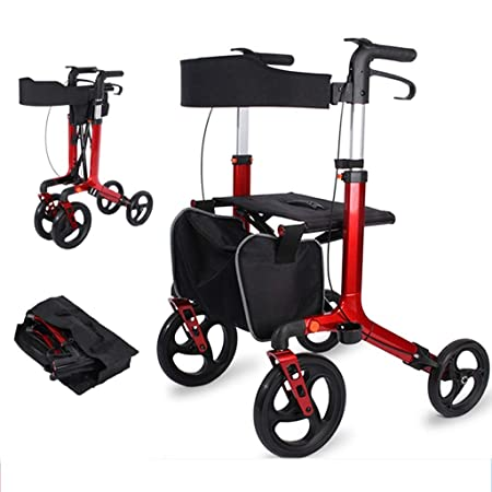 EGCLJ Andador Walker Compacta con Asiento Bolsa For Personas ...