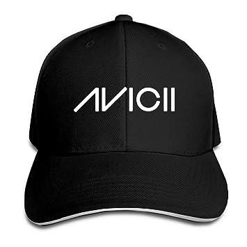 57a18700aa3ef Huseki Avicii Ture Logo Adjustable Peaked Baseball Caps Hats For Unisex  Black  Amazon.co.uk  Sports   Outdoors