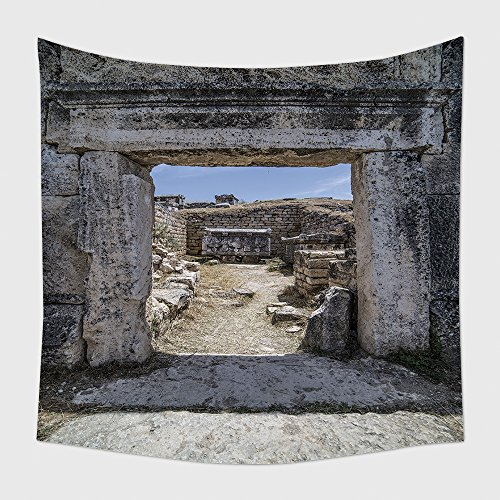 Greco Tapestry (Home Decor Tapestry Wall Hanging Ruins In Northern Necropolis Of Hierapoli Denizli Turkey Hierapolis Was An Ancient Greco Roman for Bedroom Living Room Dorm)