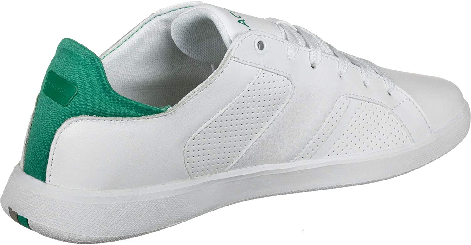 White Lacoste Mens Novas 219 1 SMA Leather Trainers