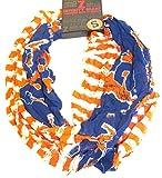 Zoozatz Syracuse Orange Striped 2 Tone Infinity Scarf