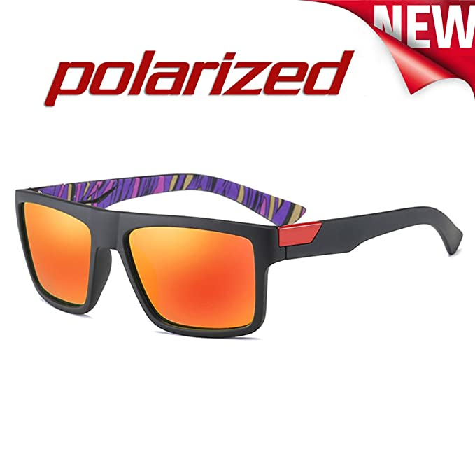 JULI EYEWEAR JULI Moda Polarizadas Deportes Gafas de sol Hombre Mujer D730