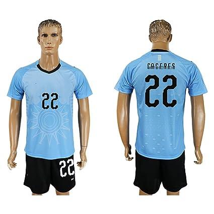 Amazon.com   2018 Men s Uruguay  22 Short Sleeves Home Soccer Jersey ... e63b054a0