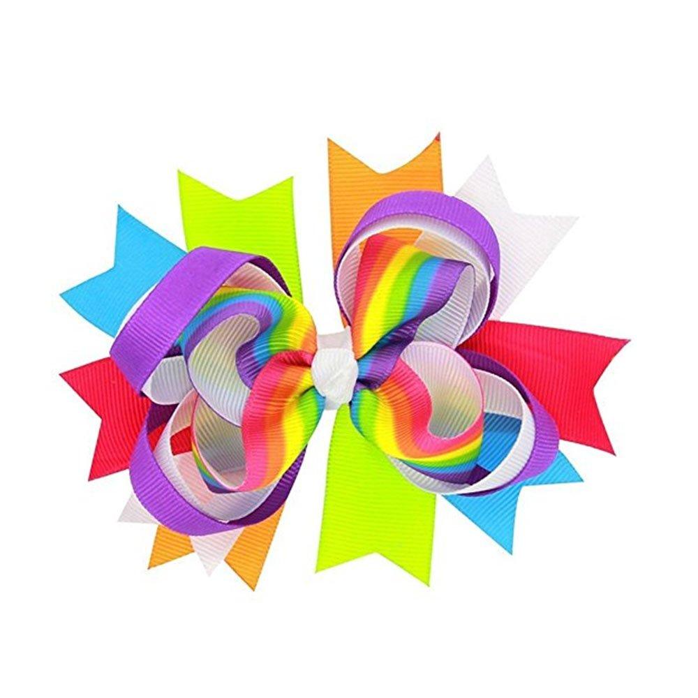 Newin Star Pinza de Pelo niñas, Pinza de Pelo de Lazo diseño de Iris Arcos Alligator Clip de Pelo para niñas y bebé
