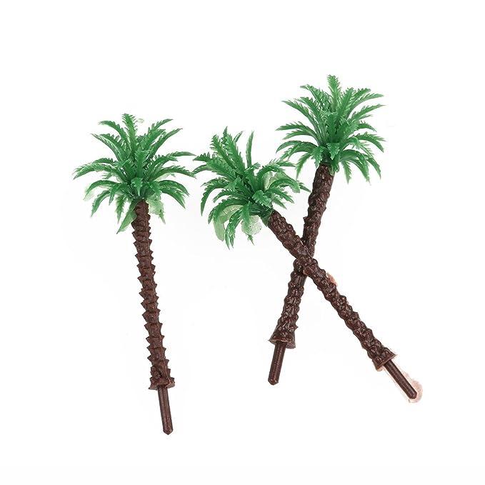 WINOMO Mini verde paisaje paisaje árbol modelo verde palma de coco ...