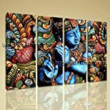 Feng Shui Buddha Painting Zen Wall Art Contemporary Abstract Home Decor Extra Large Wall Art, Gallery Wrapped, by Bo Yi Gallery 51''x36''