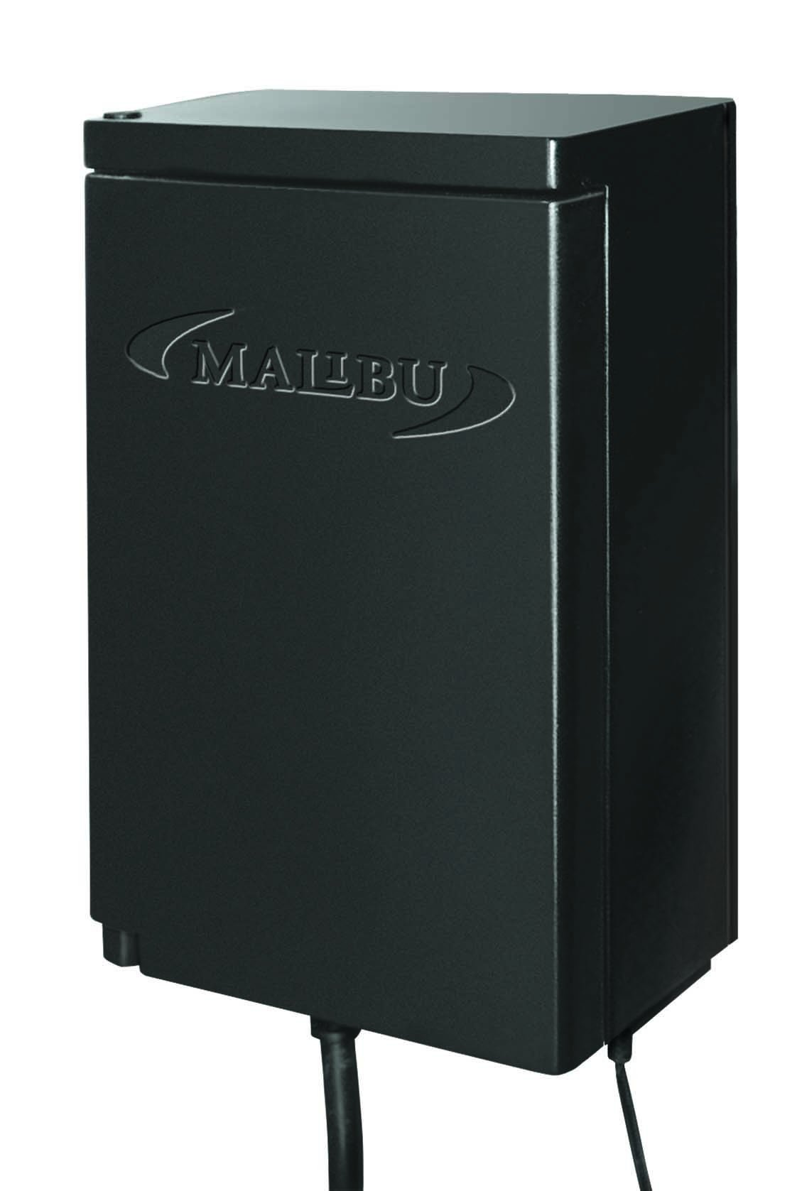 Malibu 45 Watt Power Pack with Sensor and Weather Shield for Low Voltage Landscape Lighting and Spotlight Outdoor Transformer 120V Input 12V Output 8100-9045-01