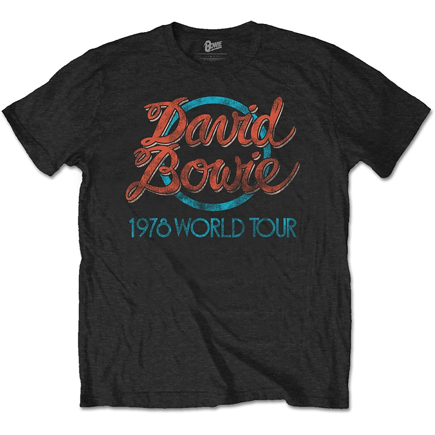 Camiseta David Bowie 78 Tour (Negro) low-cost - dynamicdirect.com