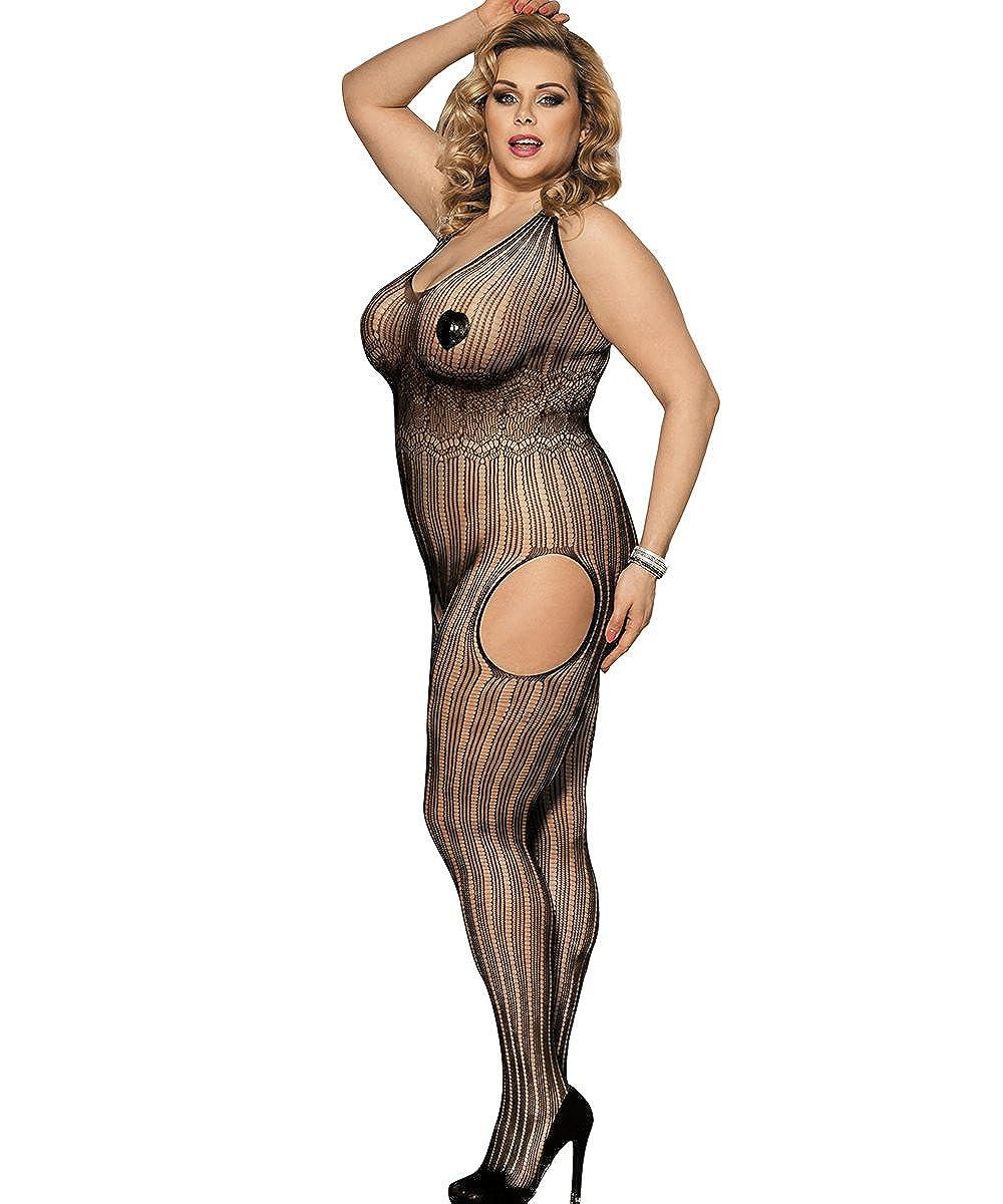 9effc982304f5 Shmimy Bodystockings Damen elastische Netz Strumpfhose Reizwäsche ...