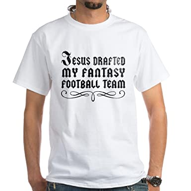 5af03fd71f Image Unavailable. Image not available for. Color: CafePress Jesus Drafted  My Fantasy Football Team Tee ...