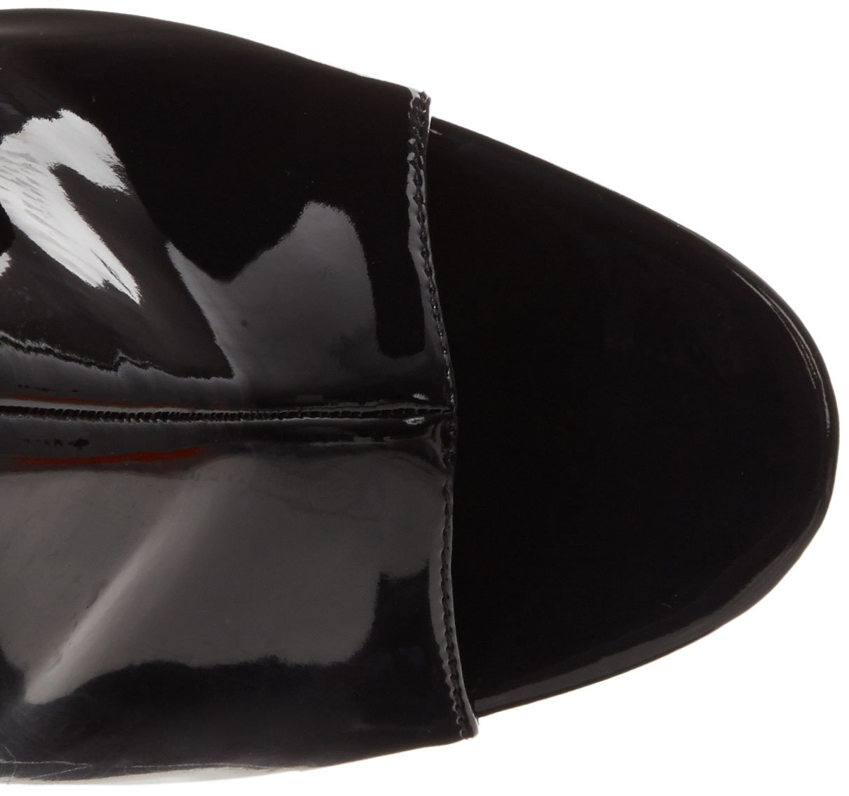 Pleaser Women's Illusion-1018 Boot B00B472VOQ 7 B(M) US|Black Patent