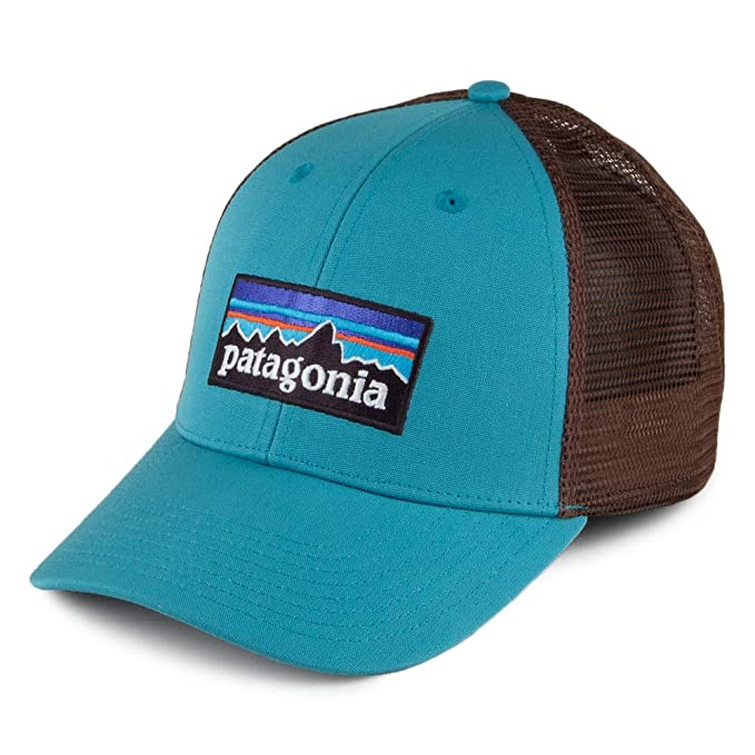 e03c8a4101e822 Patagonia Hats P-6 Logo LoPro Trucker Cap - Blue-Brown Adjustable ...