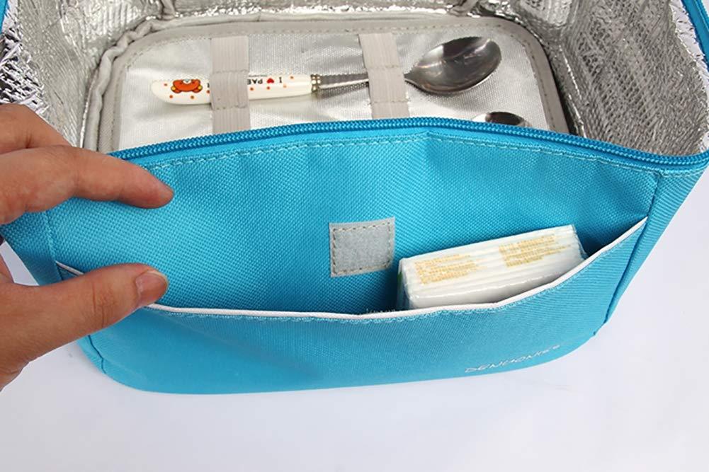 BAIYI Peque/ña Bolsa de Almuerzo t/érmica Picnic port/átil Mini Aislado refrigerador Bolsa Alimentos Leche Fruta Fresco Guardar Caja de refrigerador para Adultos y ni/ños