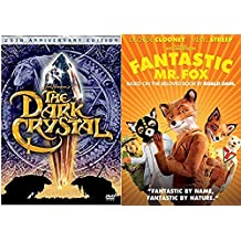 Fantastic Mr. Fox + The Dark Crystal Adventures 25th Anniversary 2 DVD Animated Fantasy Set Family Movies