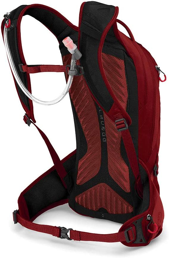 Osprey Raptor 10 Rouge Hydration Pack with 2.5L Hydraulics LT Reservoir Homme