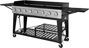 Royal Gourmet 8-Burner Liquid Propane Event Gas Grill, BBQ, Picnic, or Camping Outdoor, Black