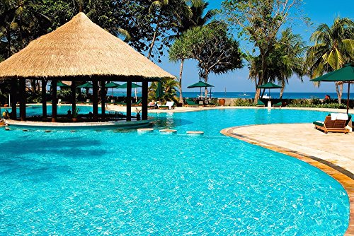 (Tropical Resort Costa Rica - Art Print On Canvas Rolled Wall Poster Print - 36