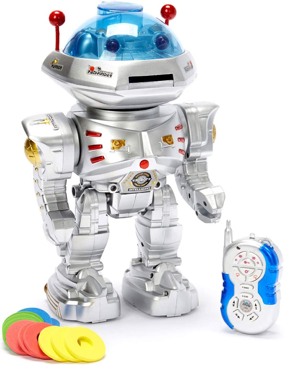 B002SGMXZ4 Radio Remote Controlled RC Dancing Robot w/ R/C Missile Disc Launcher by PowerTRC 61pdk-tuUlL