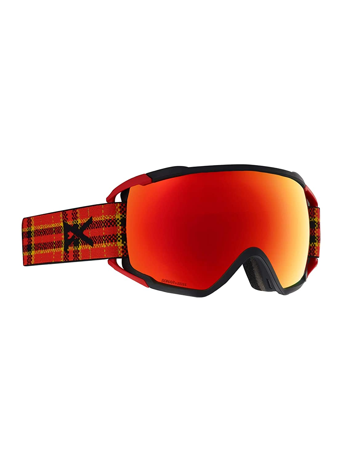 Flannel Frame Sonar Red Lens Anon Mens Circuit Goggle with MFI Mask
