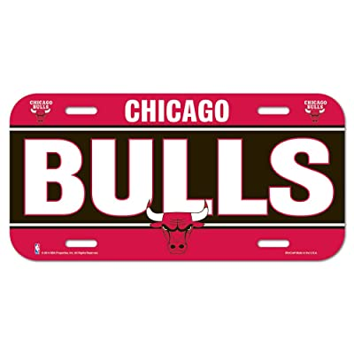WinCraft NBA Chicago Bulls License Plate: Sports & Outdoors