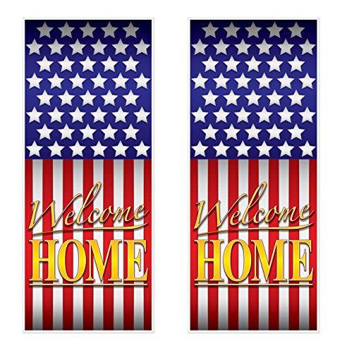 Welcome Home Door - Beistle 54007 Welcome Home Door Covers 2 Piece, 30