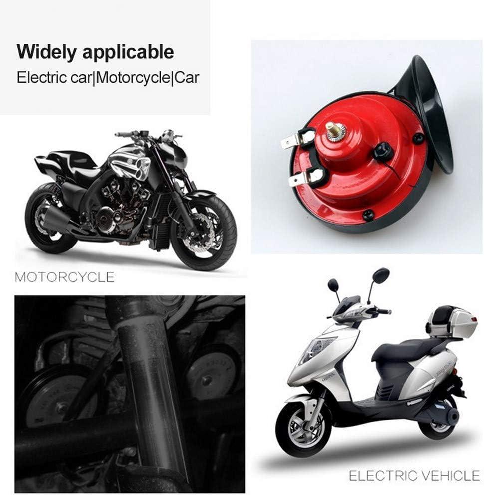 elektrische Hupe f/ür Auto Motorrad 2 x 12 V Dual-Ton-Hupe wasserdicht Boot Motorrad