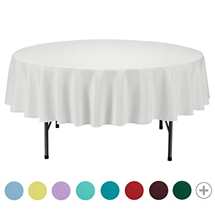 VEEYOO Tablecloth 70 Inch Round Solid Polyester Table Cover For Wedding  Restaurant Party Picnic Indoor Outdoor