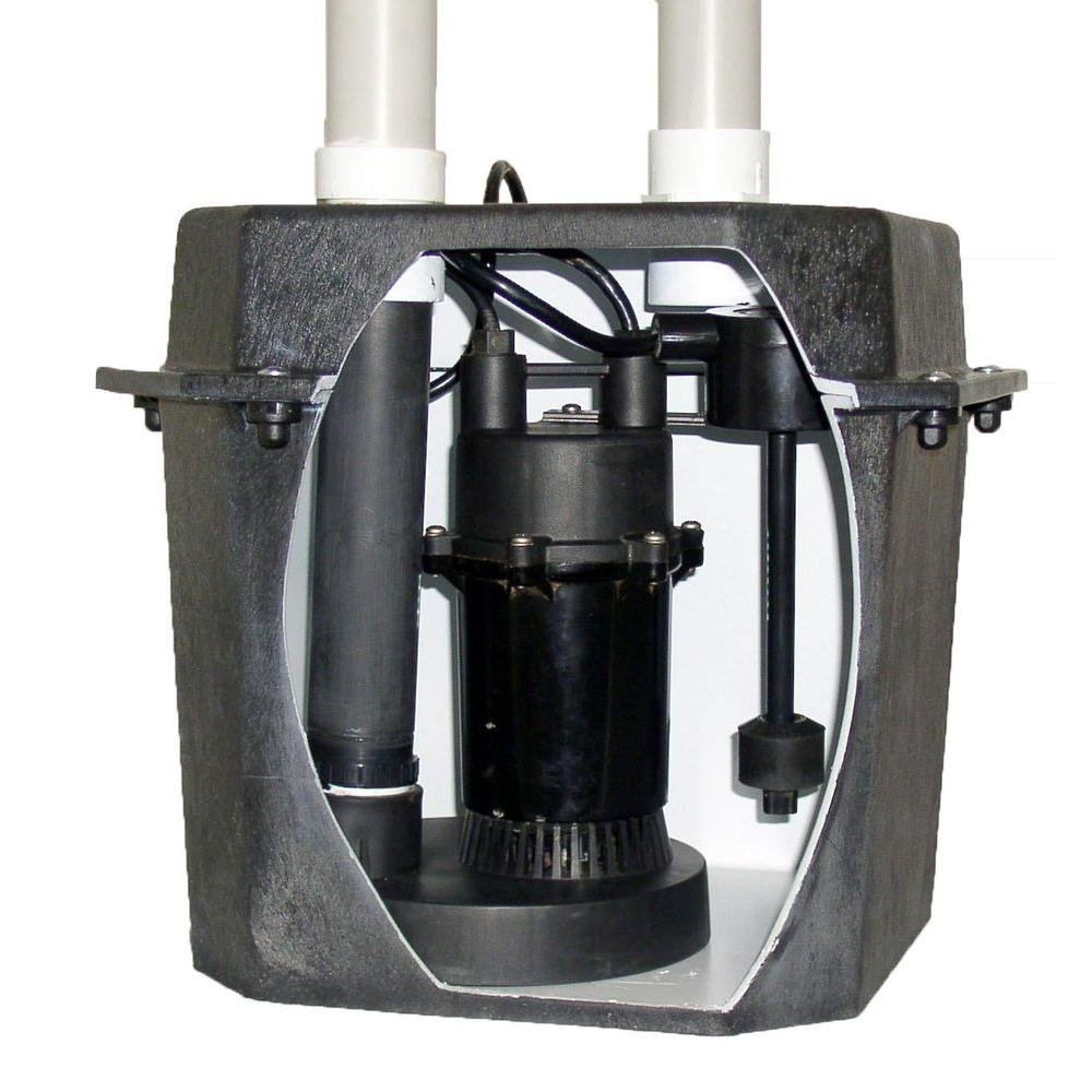 Everbilt Commercial Pumps 0.25 Hp Pre-plumbed Sink Tray System Sump Pump