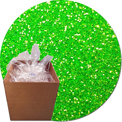 Glitter My World! Craft Glitter: 25lb Box: Jacinto Lime by Glitter My World!