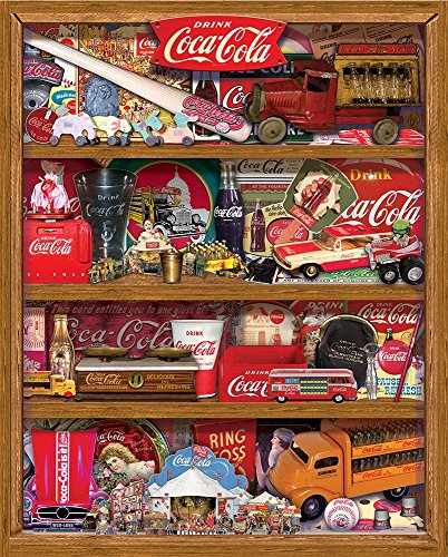 Springbok Puzzles - Coca-Cola A Collection - 500 Piece Jigsaw Puzzle - Large 18 Inches by 23.5 Inches Puzzle - Made in USA - Unique Cut Interlocking Pieces - Officially Licensed Coca Cola Puzzle (Coca Cola Puzzle 500 Piece)