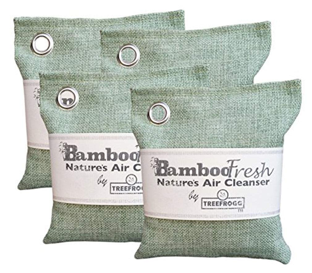 Bamboo Charcoal Natural Air Purifying Bag - Non-Toxic Odor Eliminator for Cars, Closets, Bathrooms, Kitchens, Pet Areas and Basements ~ Fragrance & Chemical Free ~ Captures & Eliminates Odors (4)