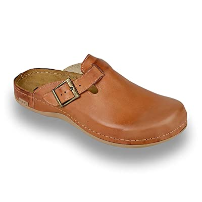 Leon 707 Leather Slip-On Mens Mule Clogs Slippers Shoes | Mules & Clogs