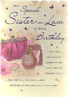 STUNNING TOP RANGE WONDERFUL WORDS 5 VERSE SISTER IN LAW BIRTHDAY GREETING