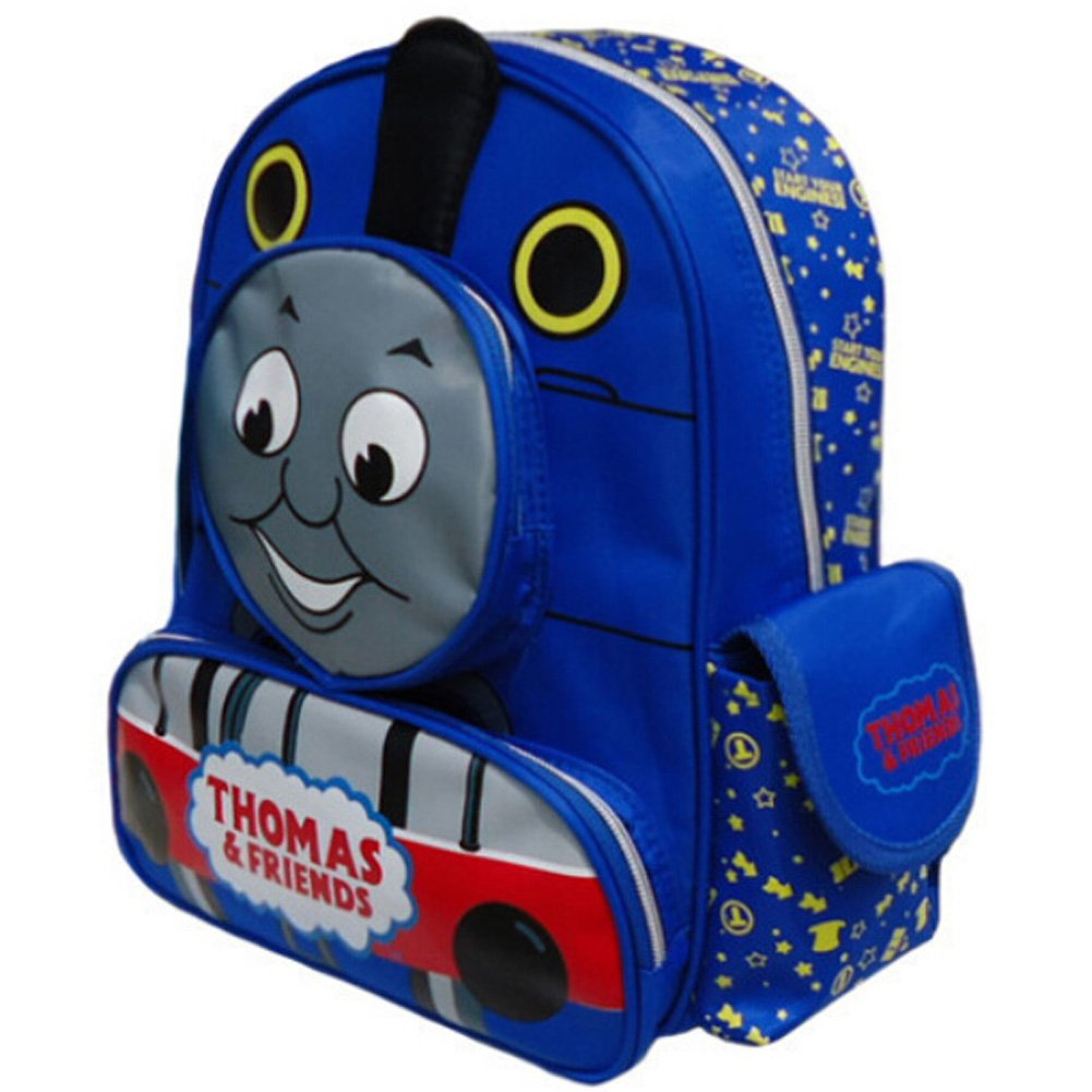 Hongyu Thomas & Friends The Tank Train Cartoon School Bag, Blue, 32cm by 27cm
