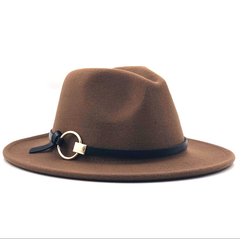 Women Wool Jazz Cap Hat Trend Autumn Summer Ladies Flat Brim Fedoras Felt Trilby with Belt 11 Colors