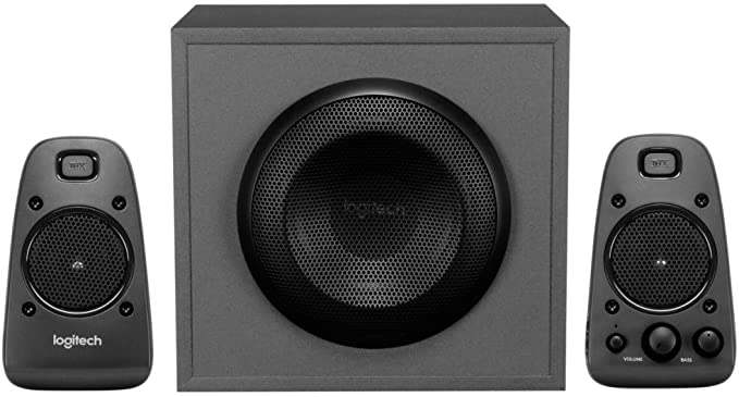 Logitech Z625 Sistema de Altavoces 2.1 Subwoofer, THX, 400W de Pico, Graves Profundos, Entrada Óptica 3.5 mm/RCA, Enchufe EU, PC/PS4/Xbox/Reproductor/DVD Player/TV/Smartphone/Tablet, Negro